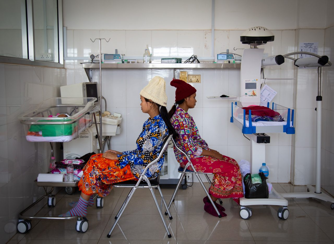 Mothers wait by their babies' side at the Neonatal Care Unit in Preah Vihear Referral Hospital, Cambodia