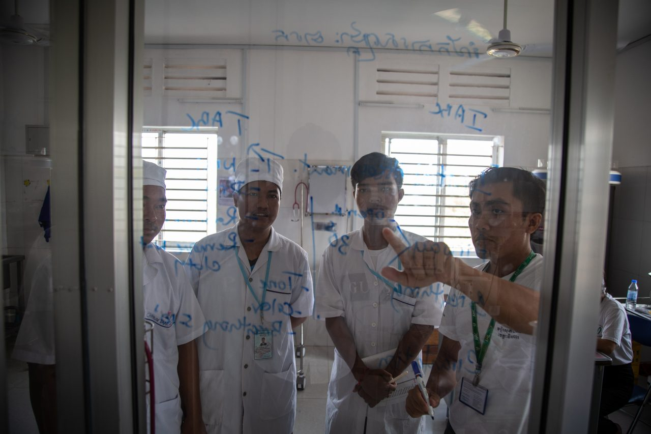 AHC's Saving Babies' Lives team trains hospital staff at Preah Vihear Referral Hospital, Cambodia.