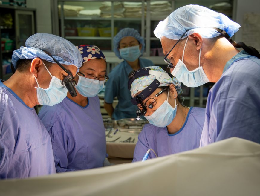 Volunteer Orthopaedic Surgeon Professor Aymeric Lim and the AHC Team